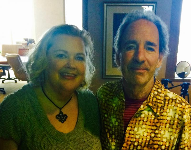 Kelly Kitchens with Harry Shearer, who was in town for Dallas VideoFest in 2014